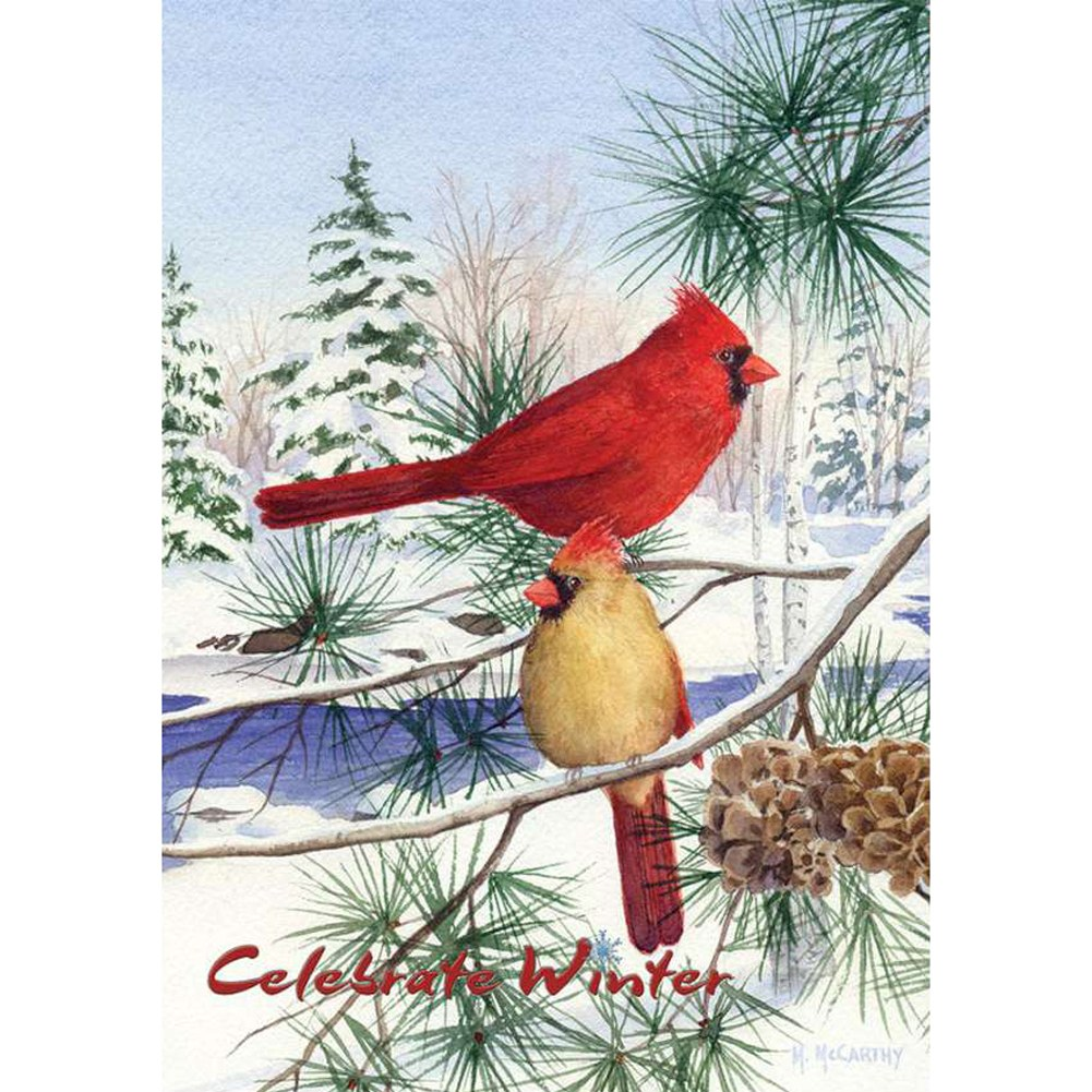 Cedar Farm Cardinals PremierSoft Double Sided House Flag