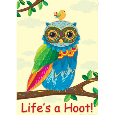 Life's A Hoot PremierSoft Double Sided House Flag