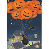 Black Cats With Balloons Illuminated House Flag
