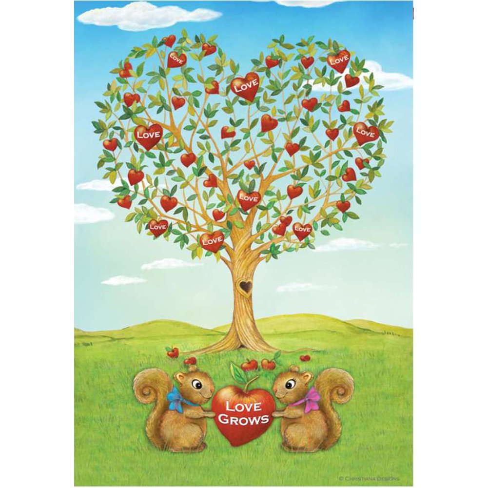 Love Grows Squirrels PremierSoft Double Sided House Flag