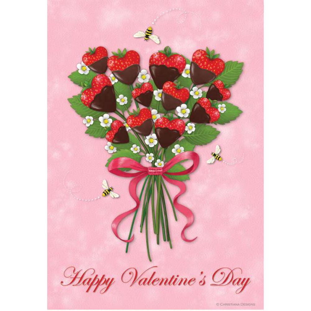 Strawberry Bouquet PremierSoft Double Sided House Flag