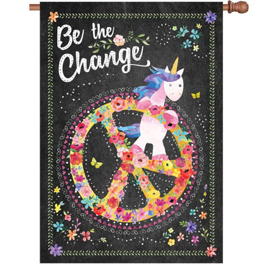 Be The Change PremierSoft Double Sided House Flag