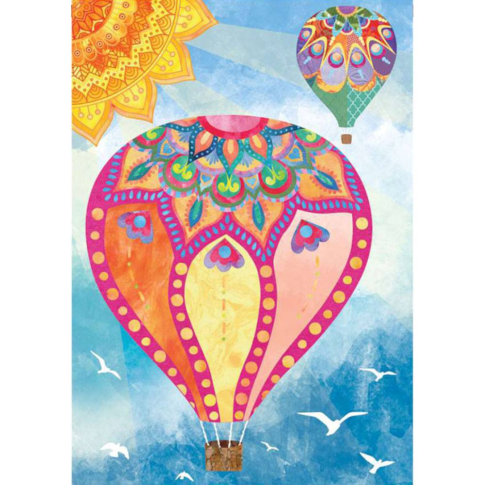 Hot Air Balloon Illuminated House Flag