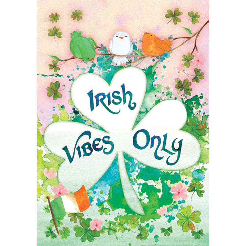 Irish Vibes Only PremierSoft Double Sided House Flag