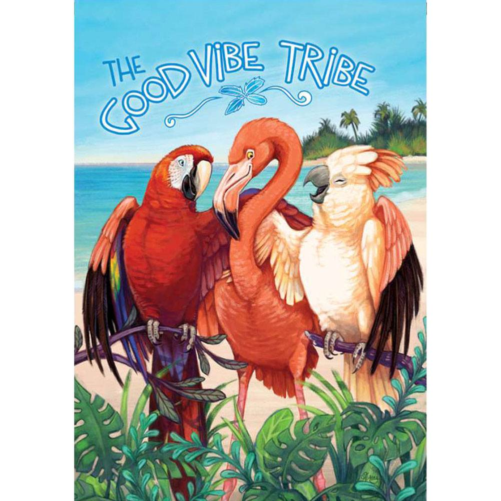 Good Vibe Tribe PremierSoft Double Sided House Flag