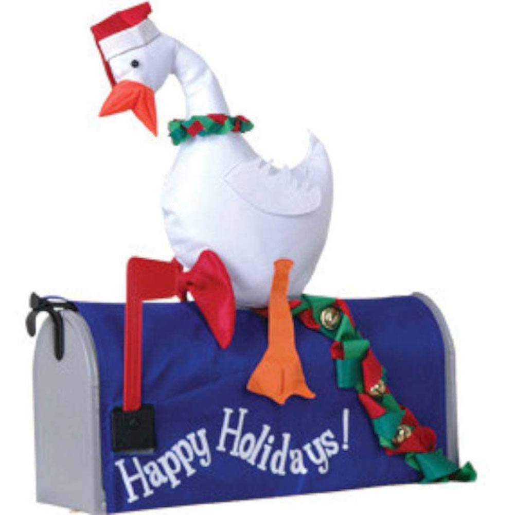 Duck with Wreath Mailbox Cover