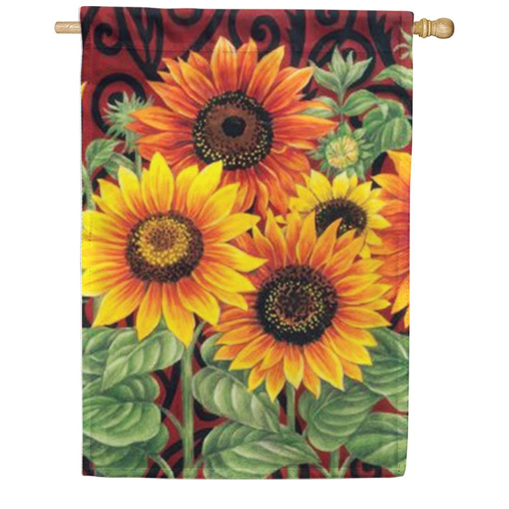 Sunflower Medley House Flag