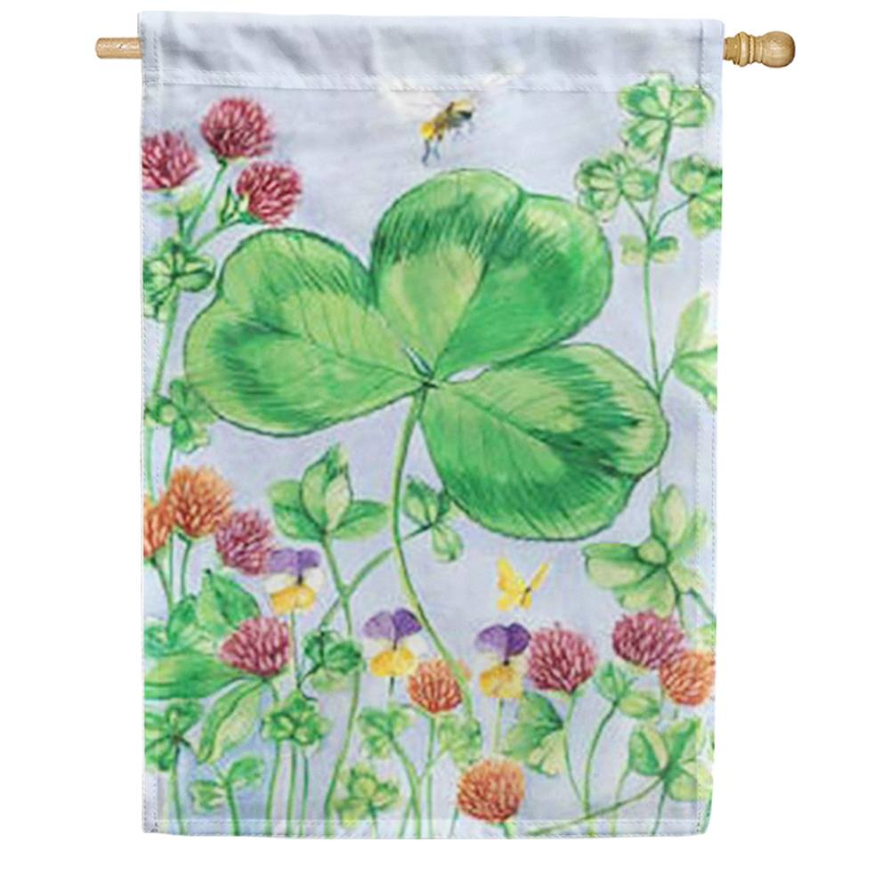 Clover And Bee House Flag