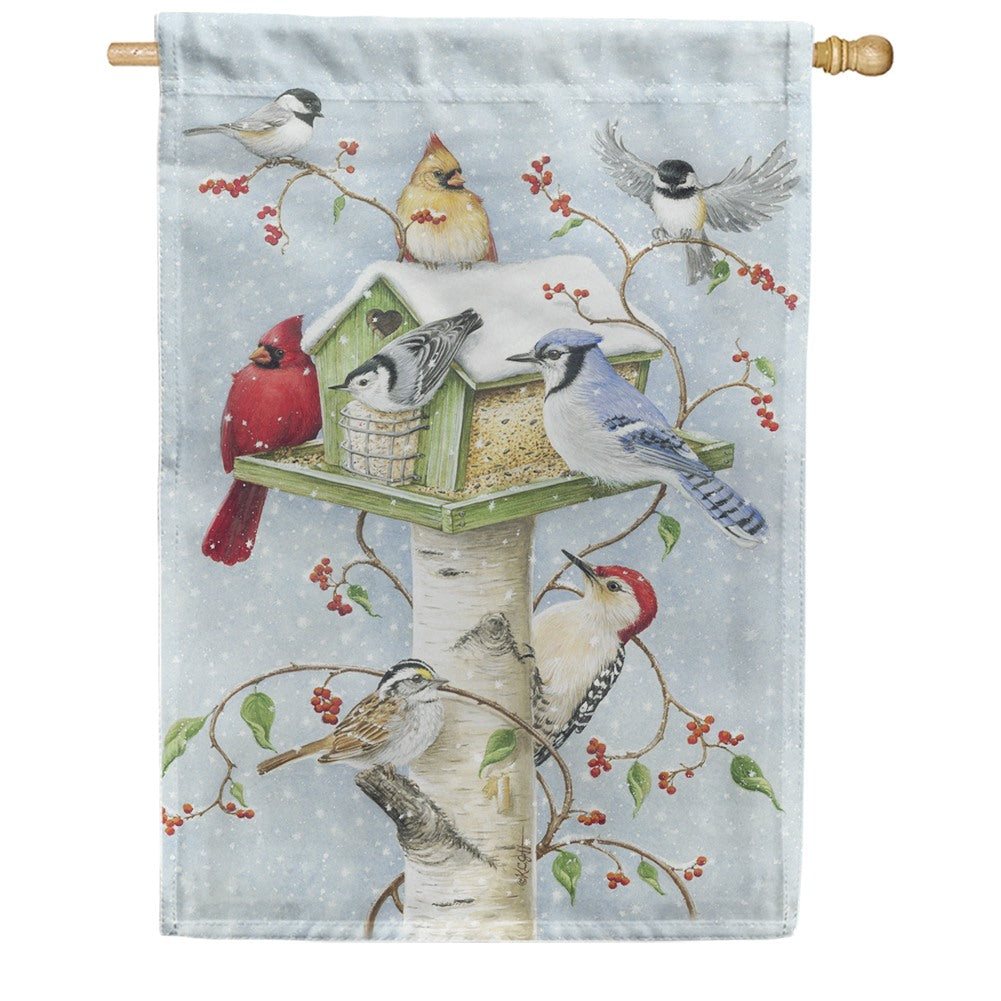 Winter Birds Toland House Flag