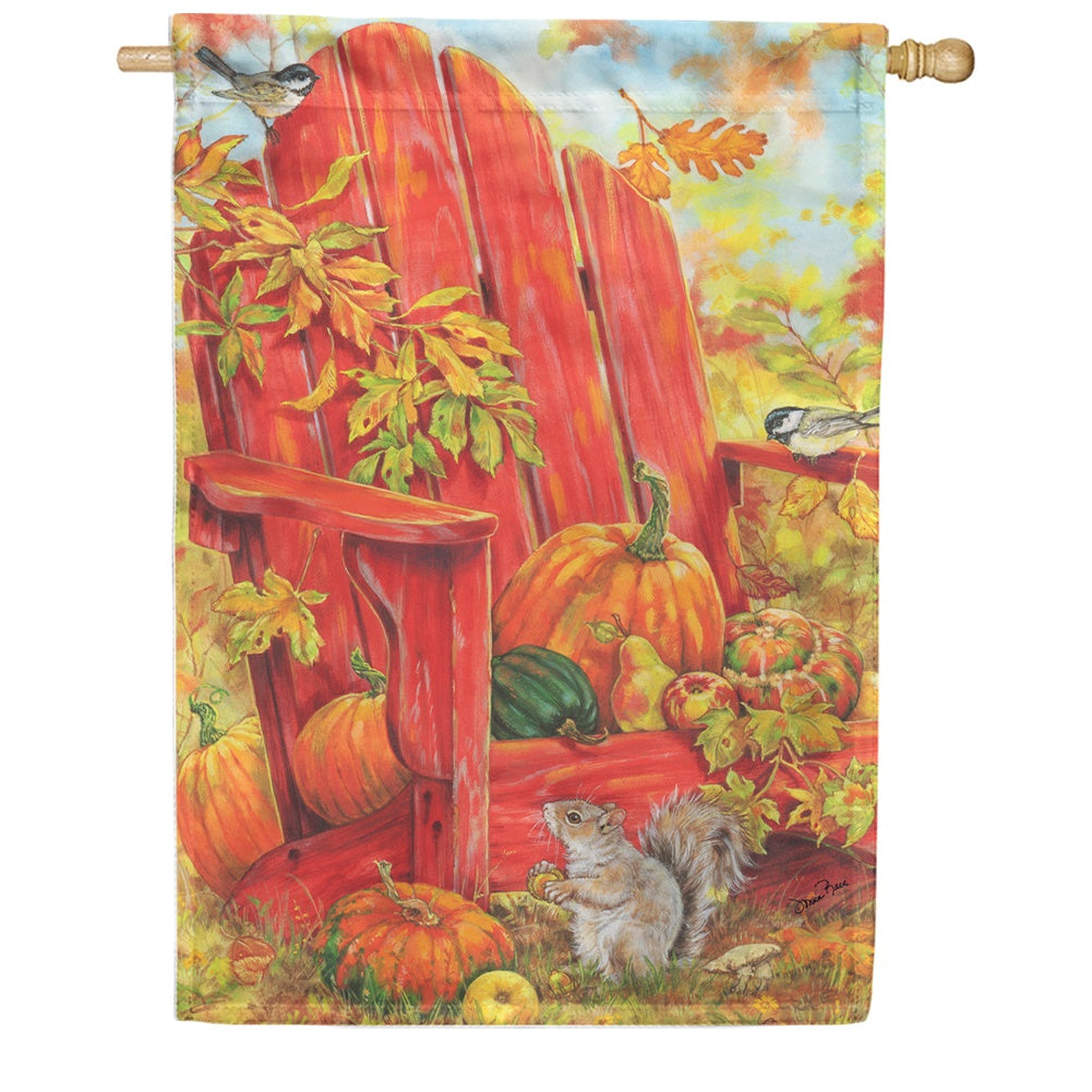 Fall Adirondack House Flag