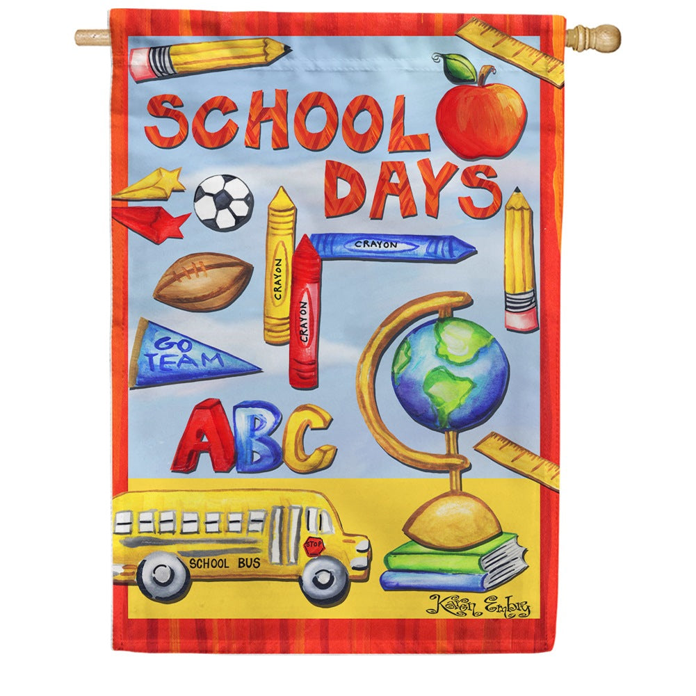 Classroom Collage House Flag