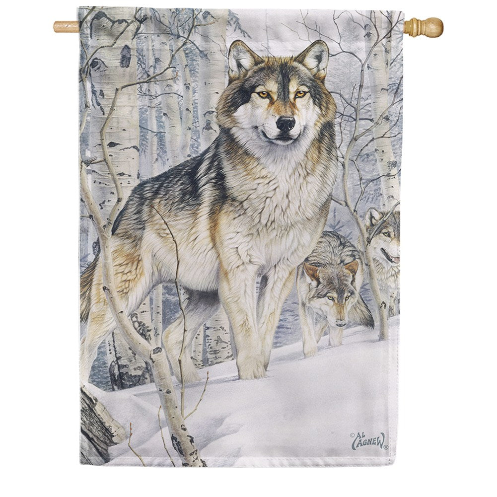 Snow Wolves House Flag