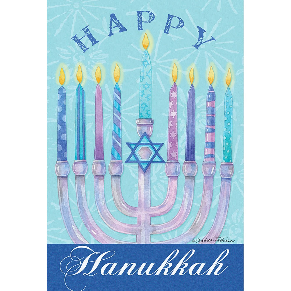 Toland Happy Hanukkah House Flag
