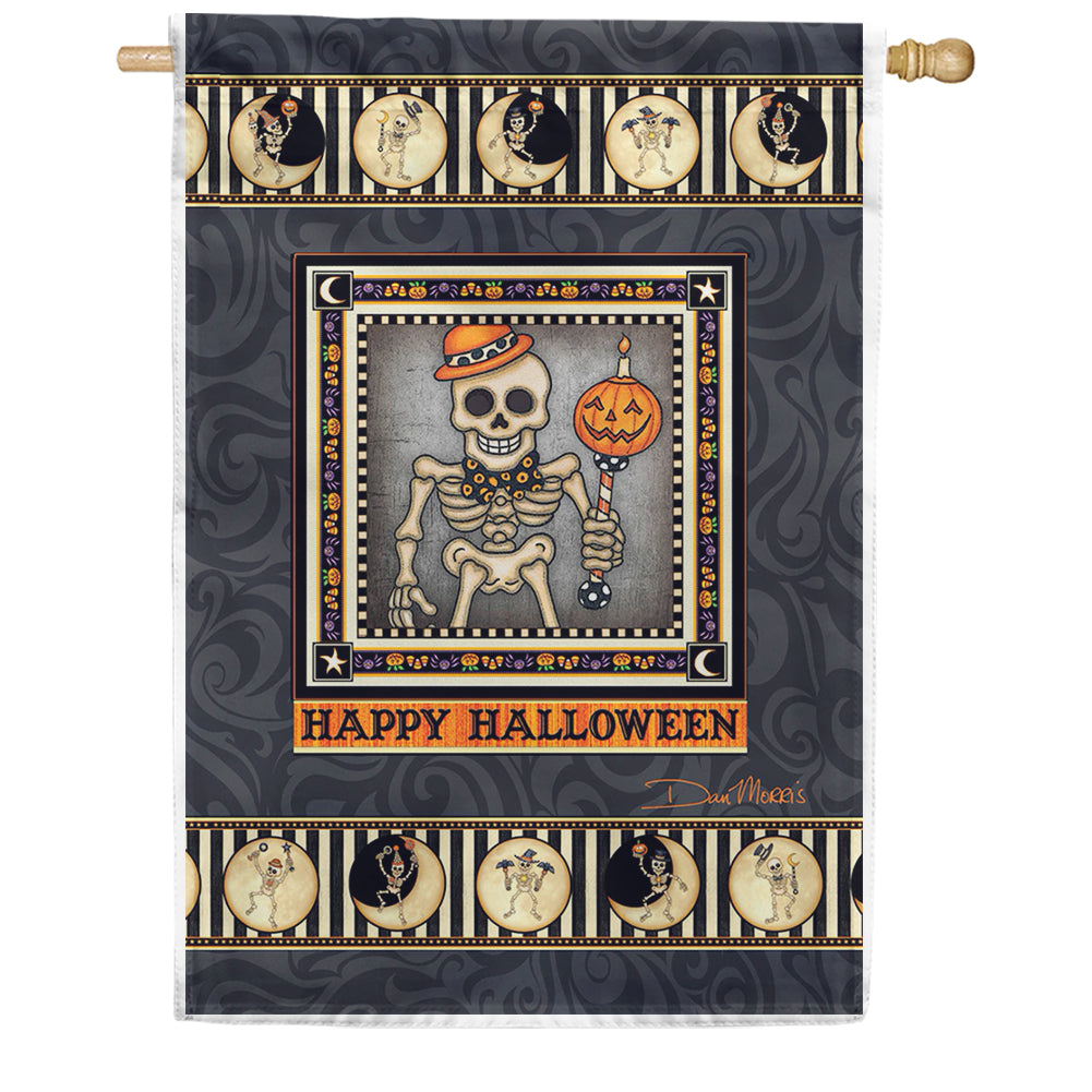 Skeleton Season House Flag