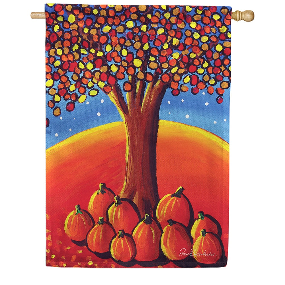 Pumpkin Tree House Flag