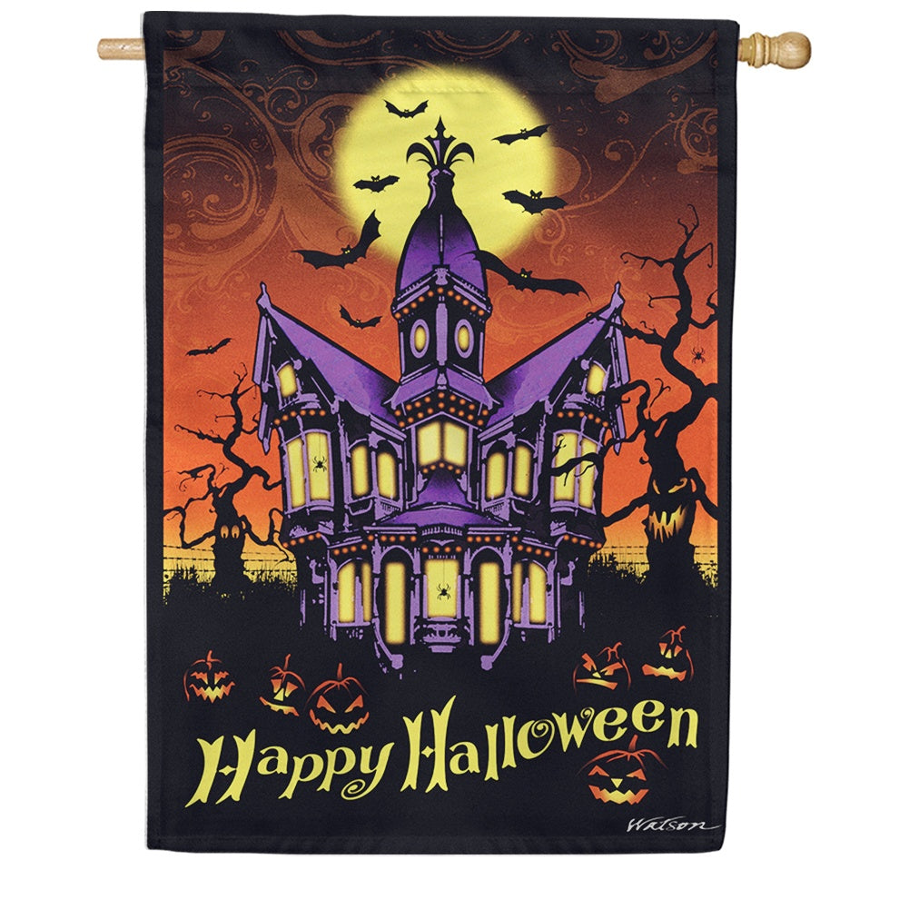 Halloween Manor House Flag