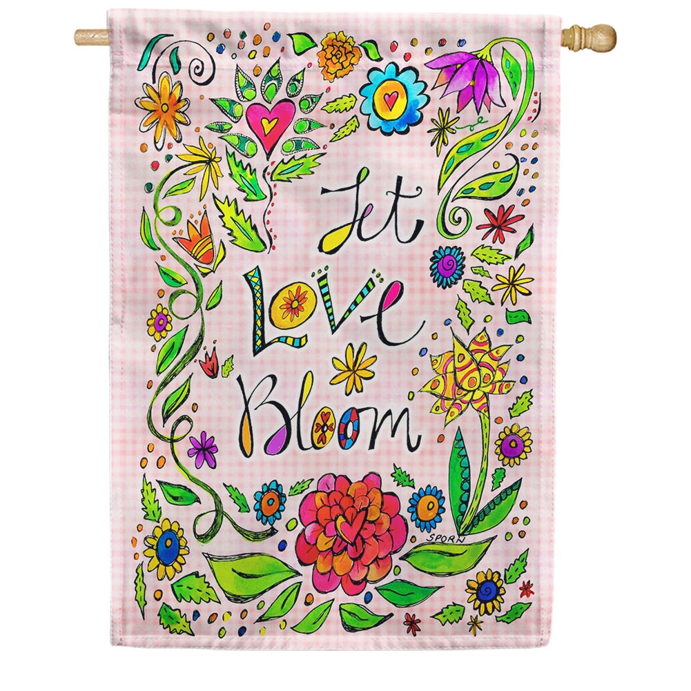 Let Love Bloom House Flag