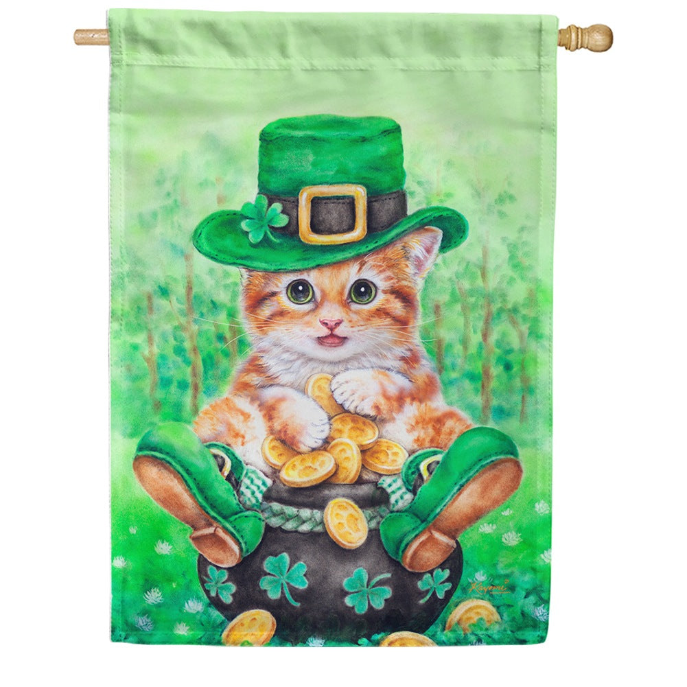 Clover Kitty House Flag
