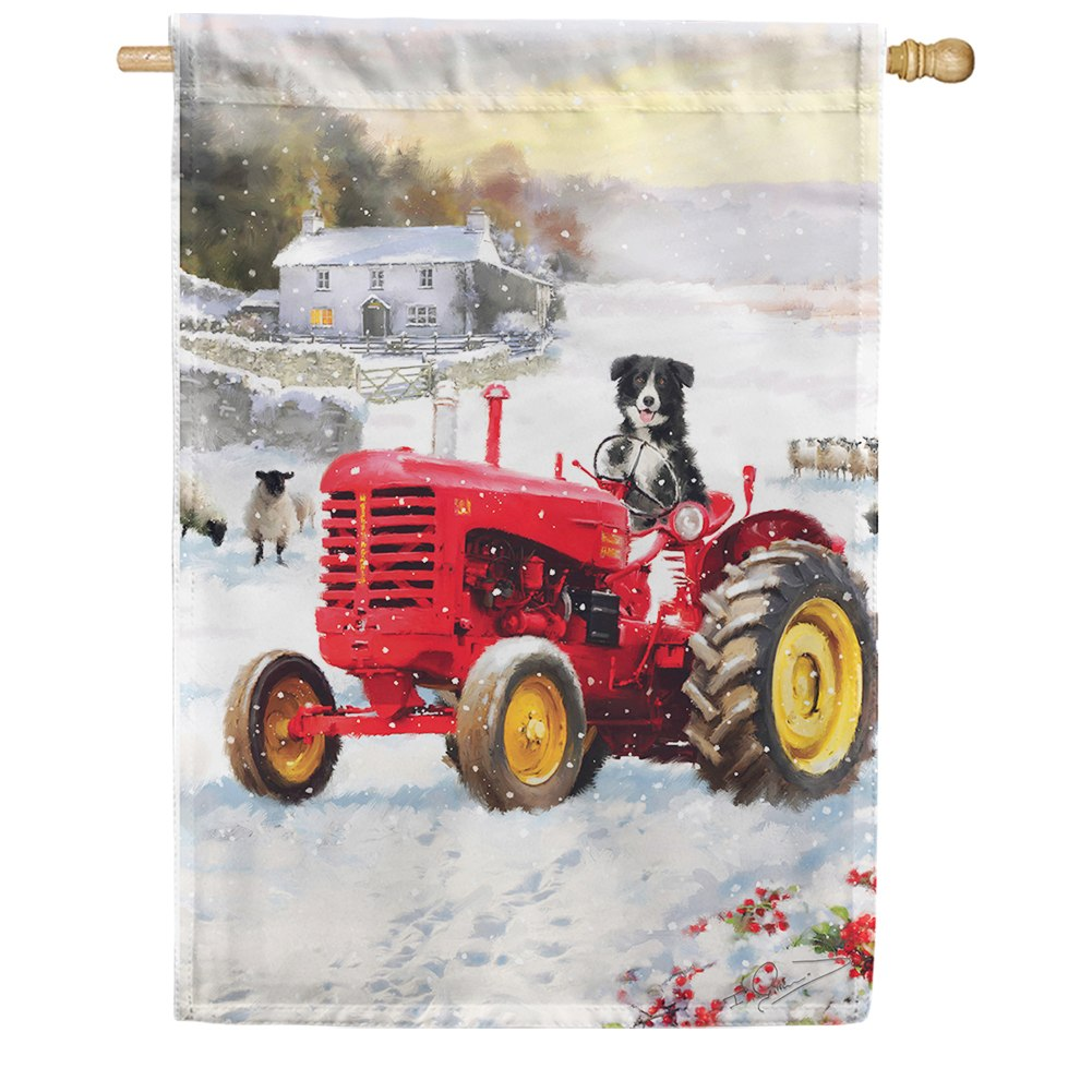 Tractor Dog House Flag