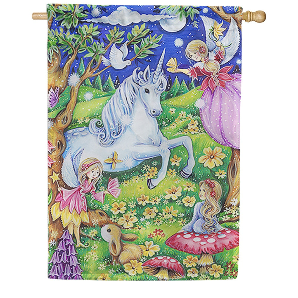 Fairies and Unicorns House Flag