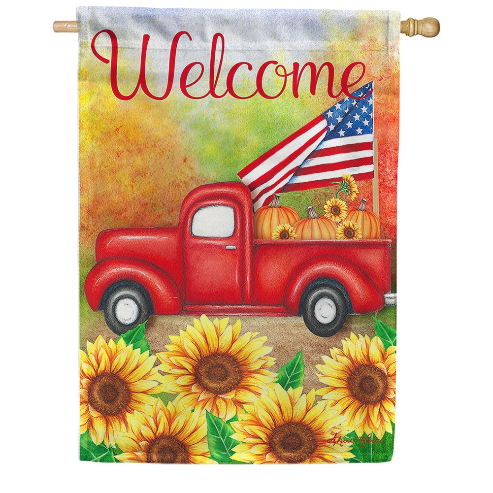 Welcome Harvest Truck House Flag