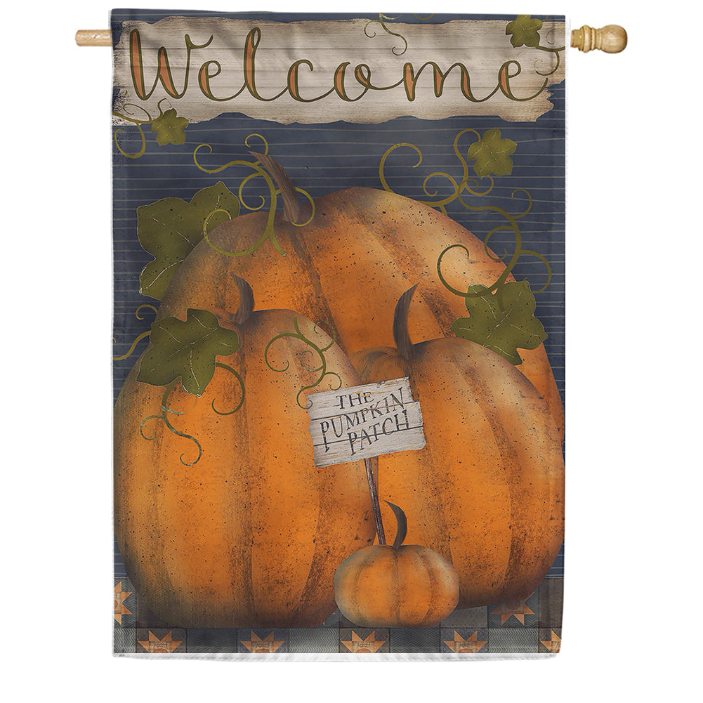 Pumpkin Patch Welcome House Flag