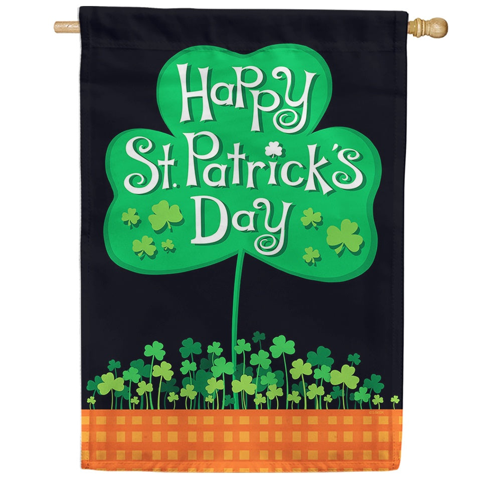 Saint Pat's Clover Patch House Flag