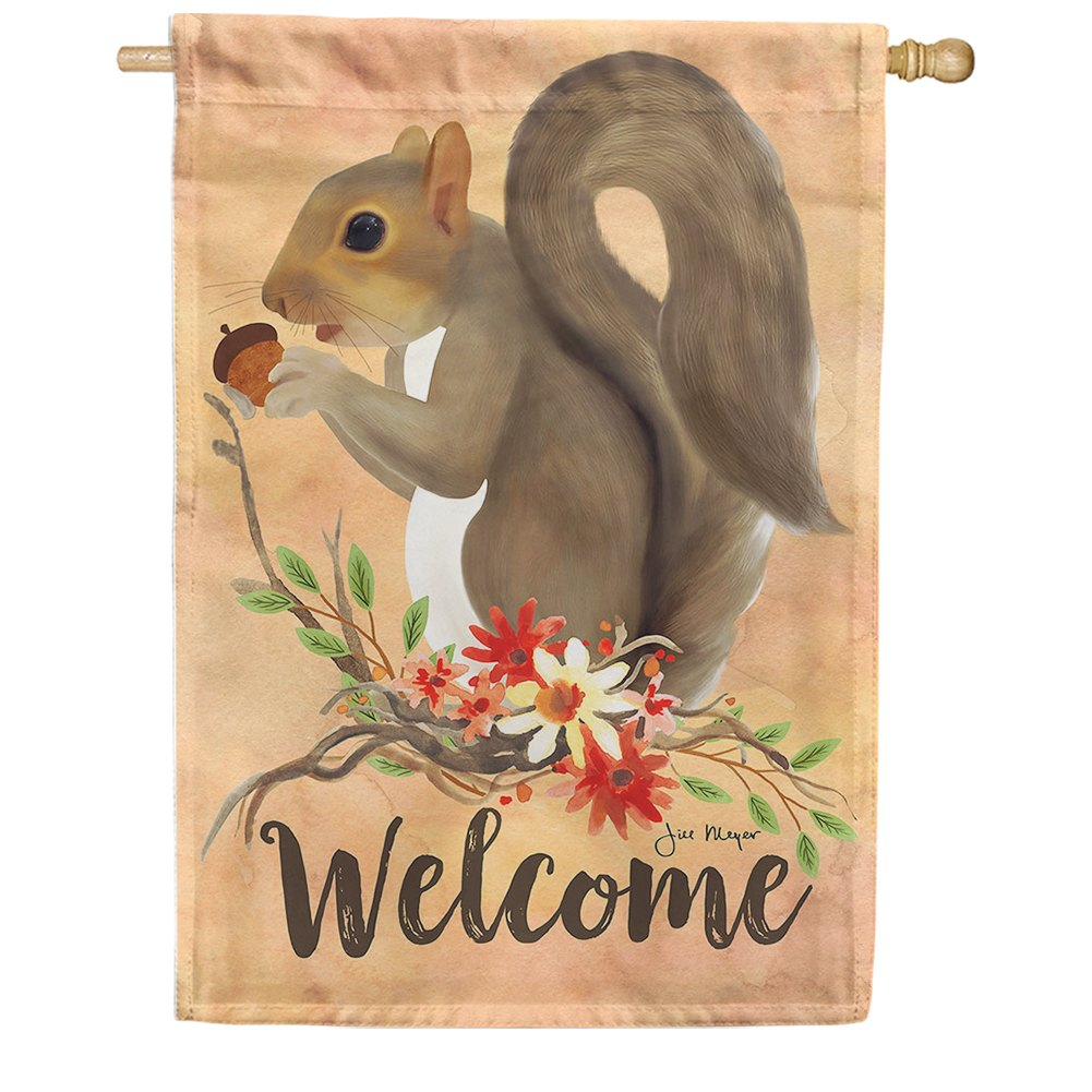 Squirrel Welcome House Flag