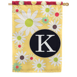 Floral Monogram House Flag