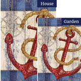 Rustic Anchor And Compass Flags Set (2 Pieces)