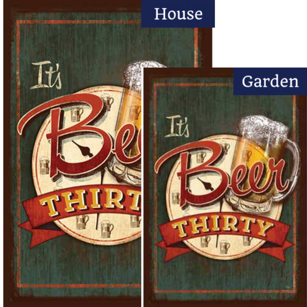 It's Beer Thirty Flags Set (2 Pieces)
