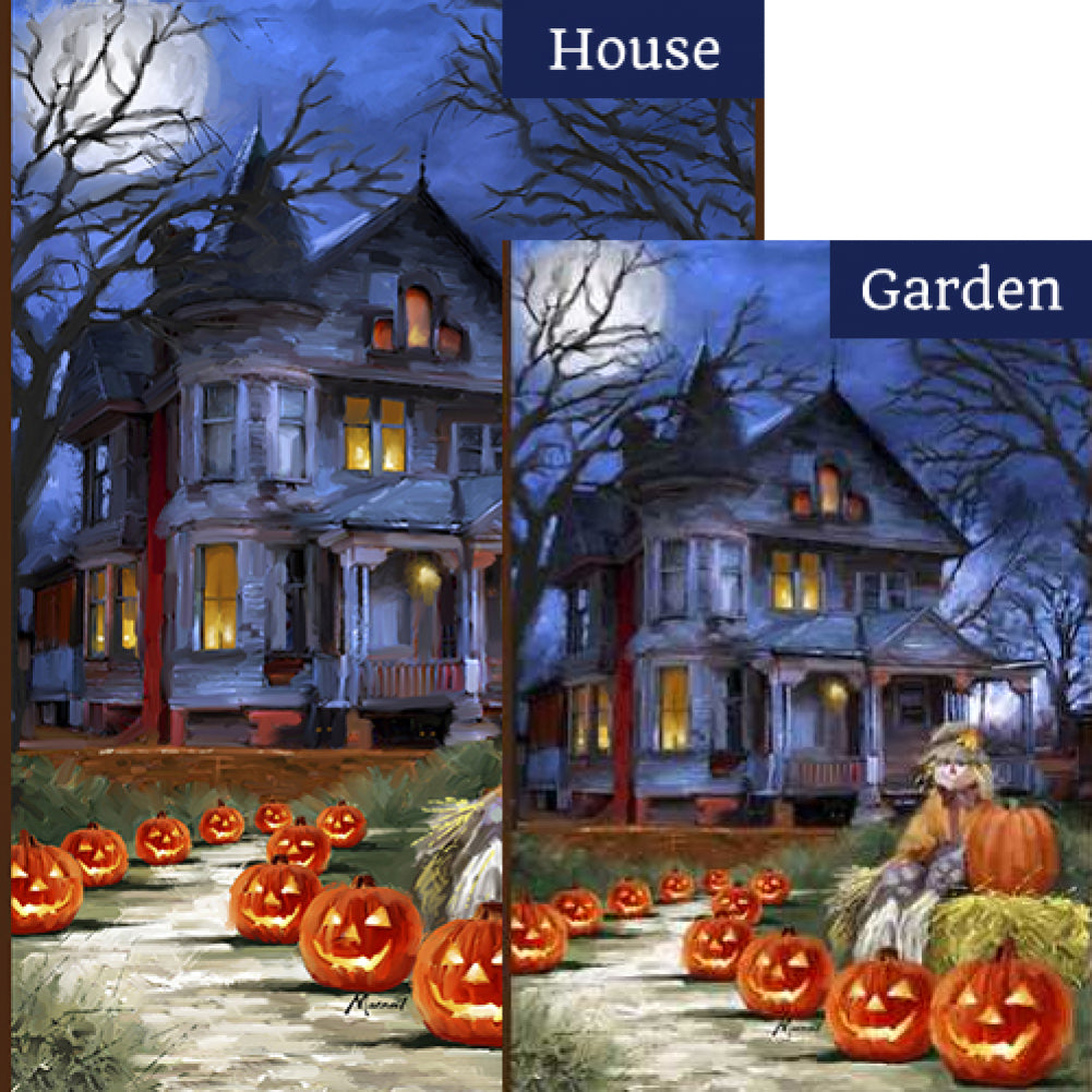 Spooky Manor Flags Set (2 Pieces)
