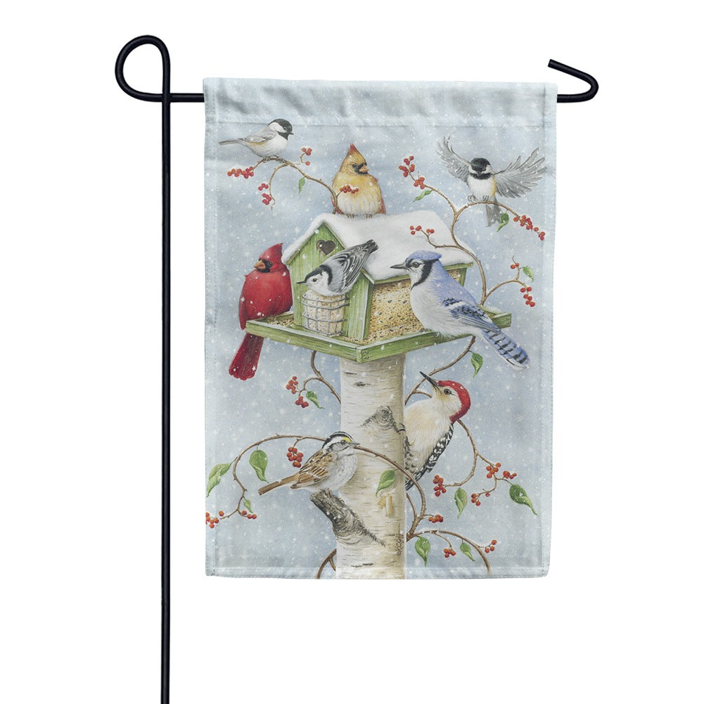 Winter Birds Toland Garden Flag