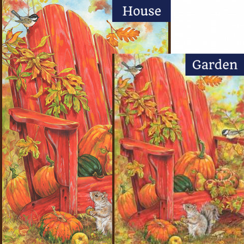 Fall Adirondack Flags Set (2 Pieces)