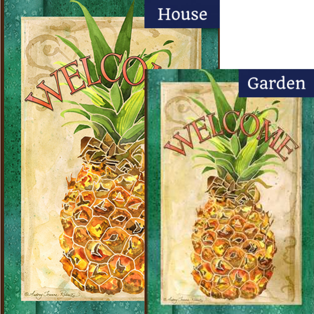 Pineapple Welcome Toland Flags Set (2 Pieces)