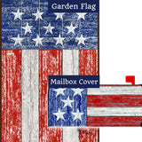 Distressed Wood USA Flag Mailwrap Set (2 Pieces)