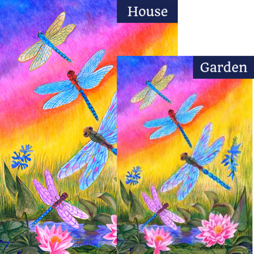 Dusk Dragonflies Flags Set (2 Pieces)