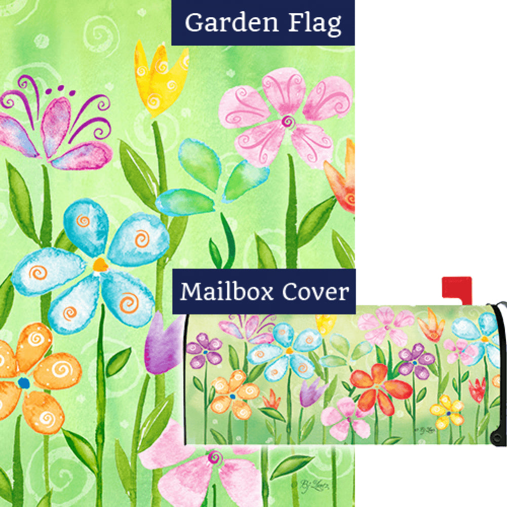 Spring Blooms Flag Mailwrap Set (2 Pieces)