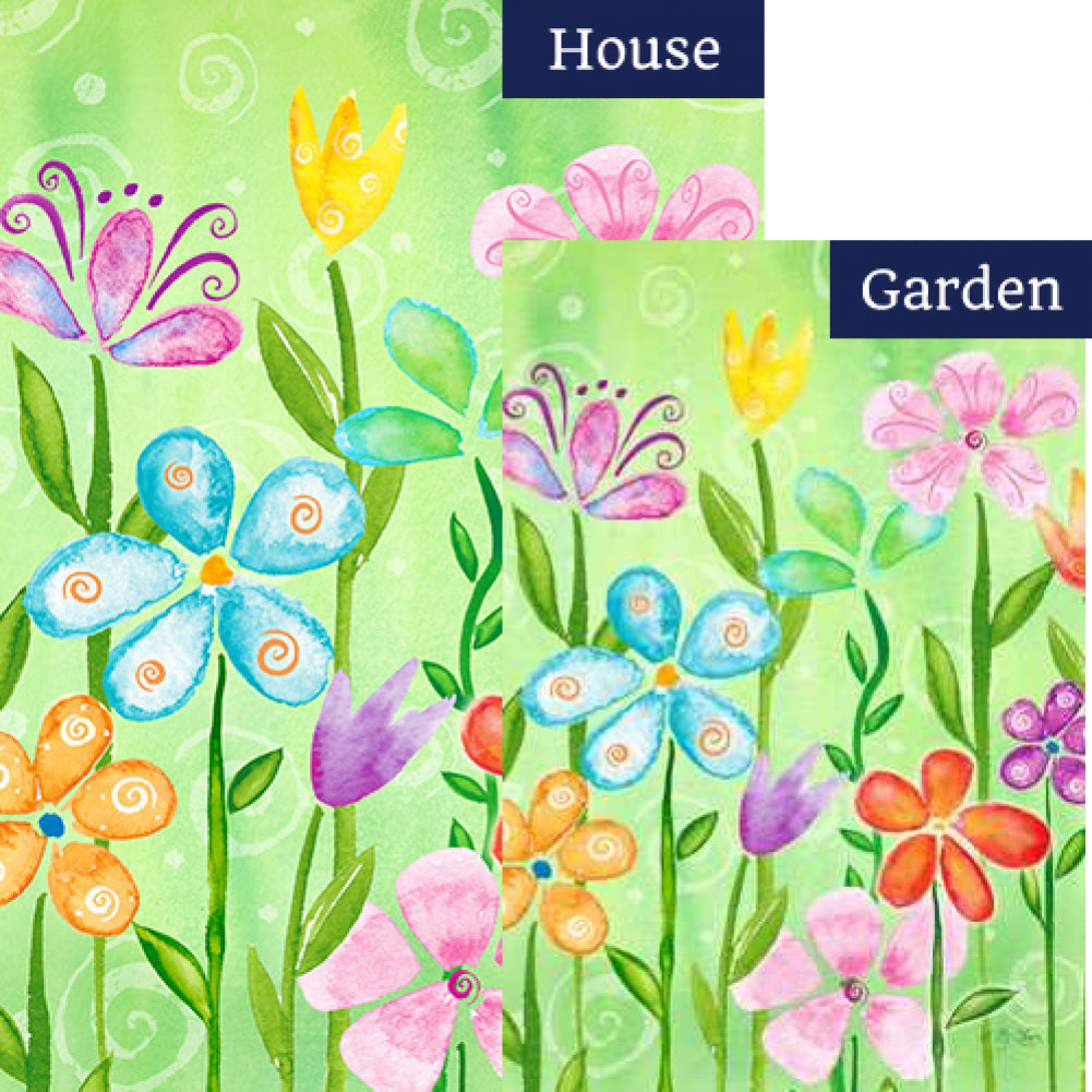 Spring Blooms Flags Set (2 Pieces)