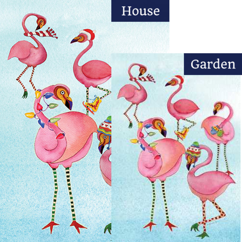 Toland Festive Flamingos Flags Set (2 Pieces)