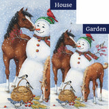 Snowman Pasture Flags Set (2 Pieces)