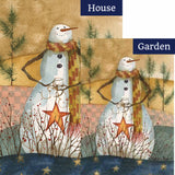 Americana Snowman Flags Set (2 Pieces)
