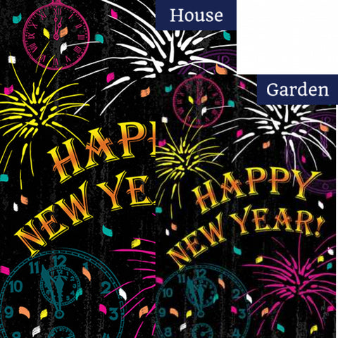 New Year Celebration Flags Set (2 Pieces)