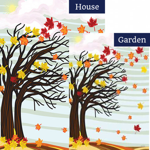 Autumn Winds Flags Set (2 Pieces)