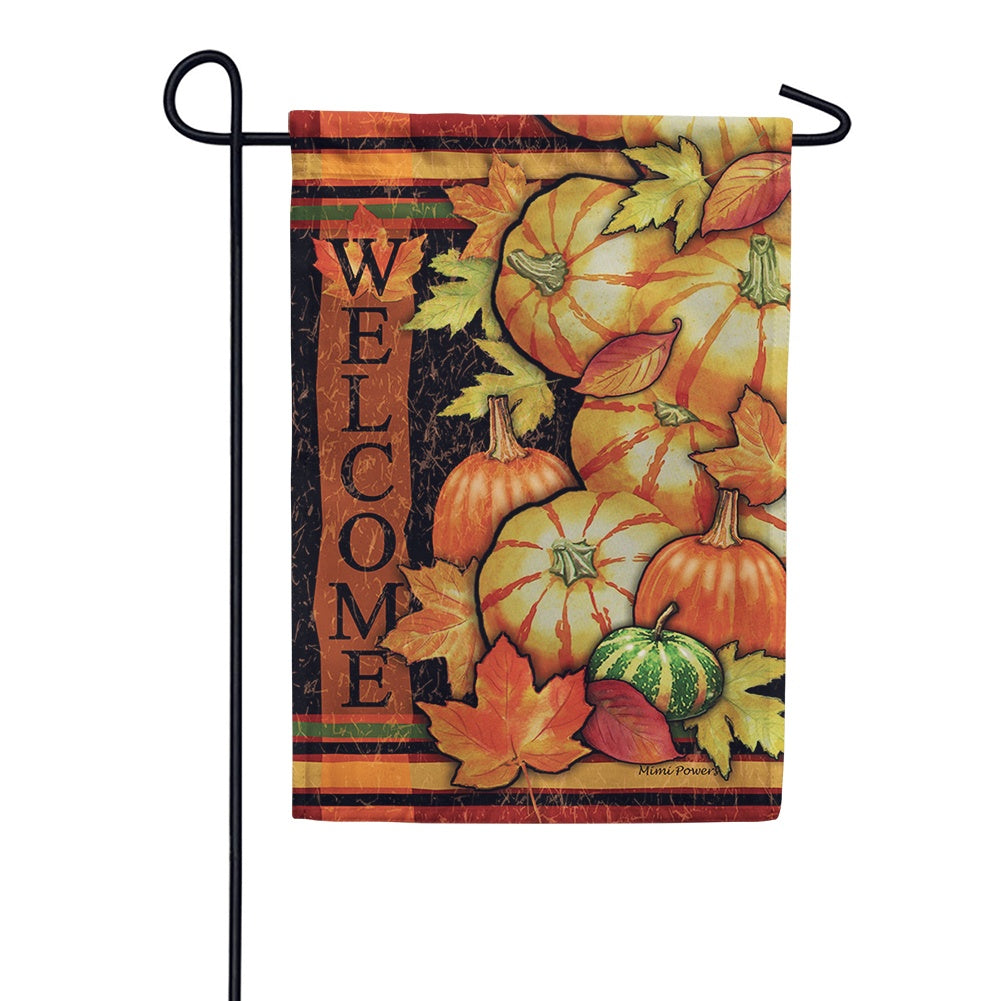 Tumbled Gourds Welcome Garden Flag