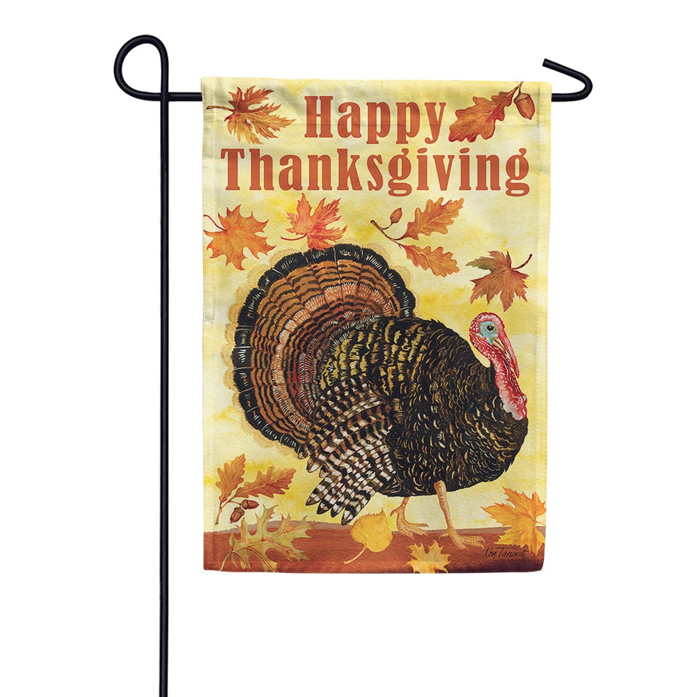 Turkey Day Garden Flag