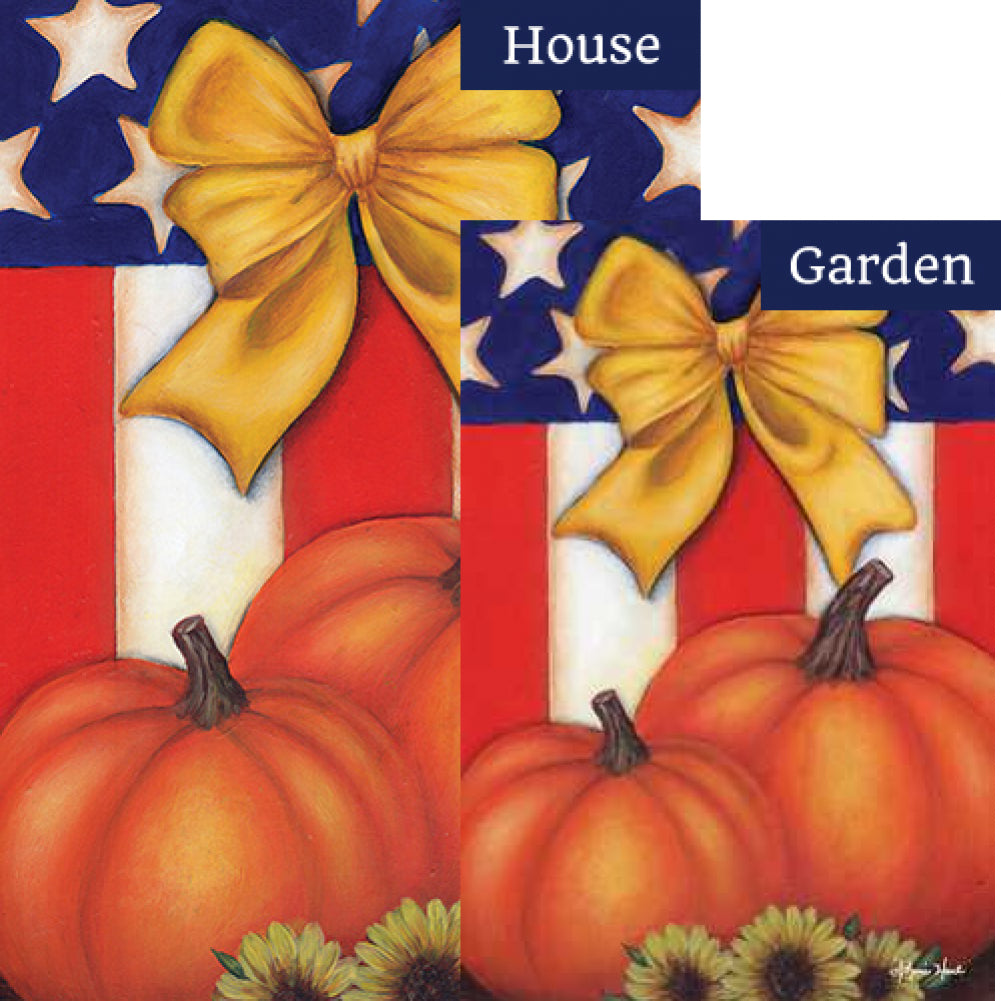 Patriotic Fall Flags Set (2 Pieces)