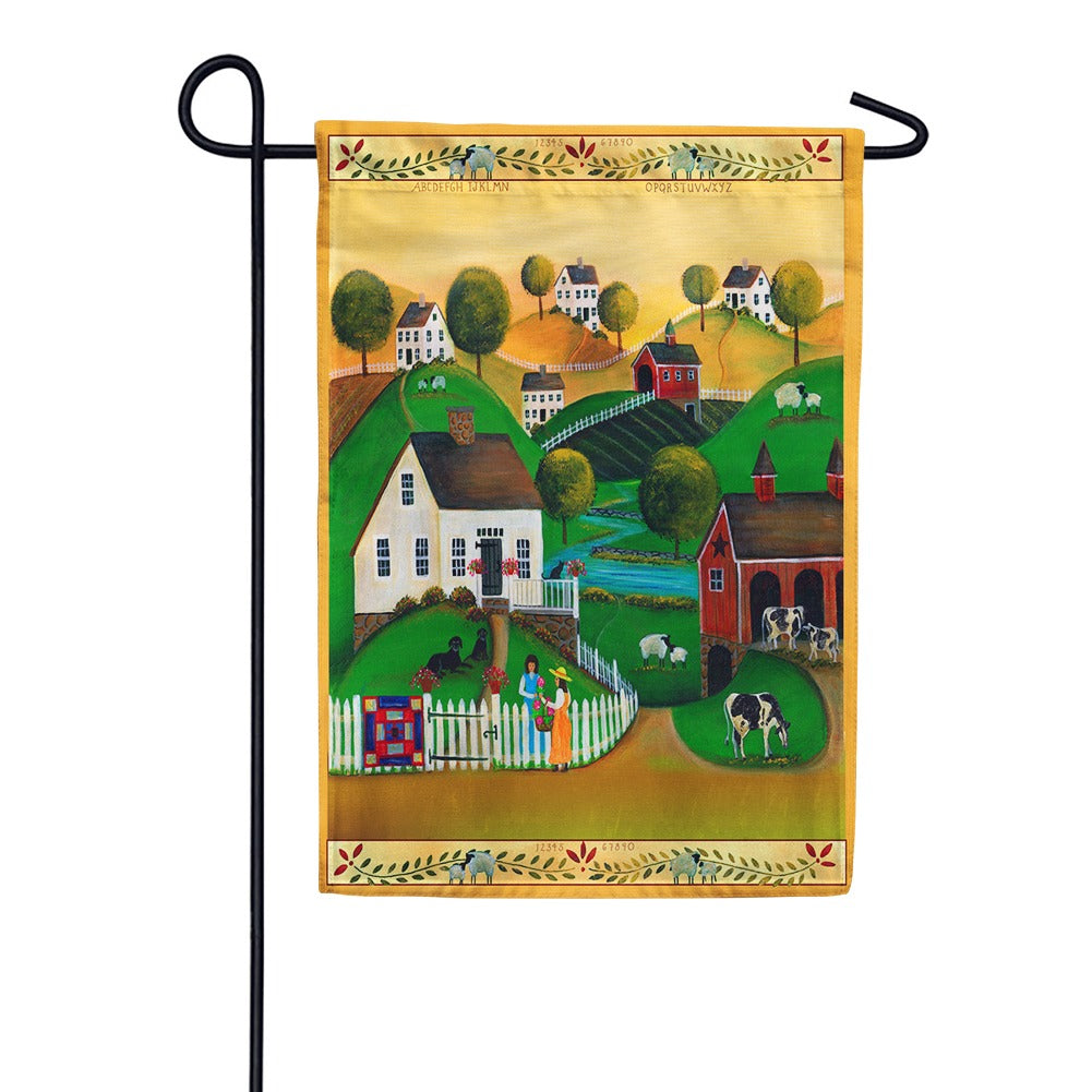Country Neighbors Garden Flag