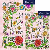 Let Love Bloom Flags Set (2 Pieces)