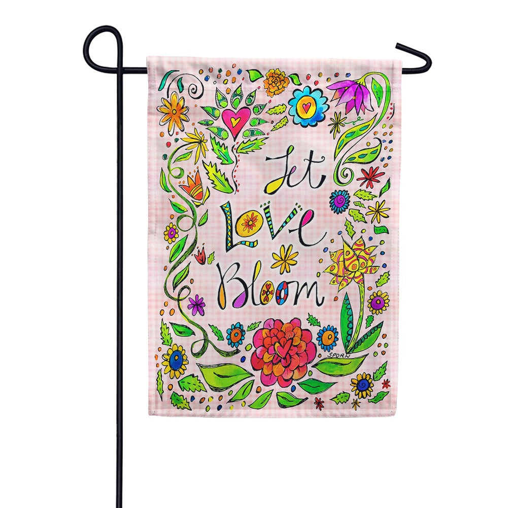 Let Love Bloom Garden Flag